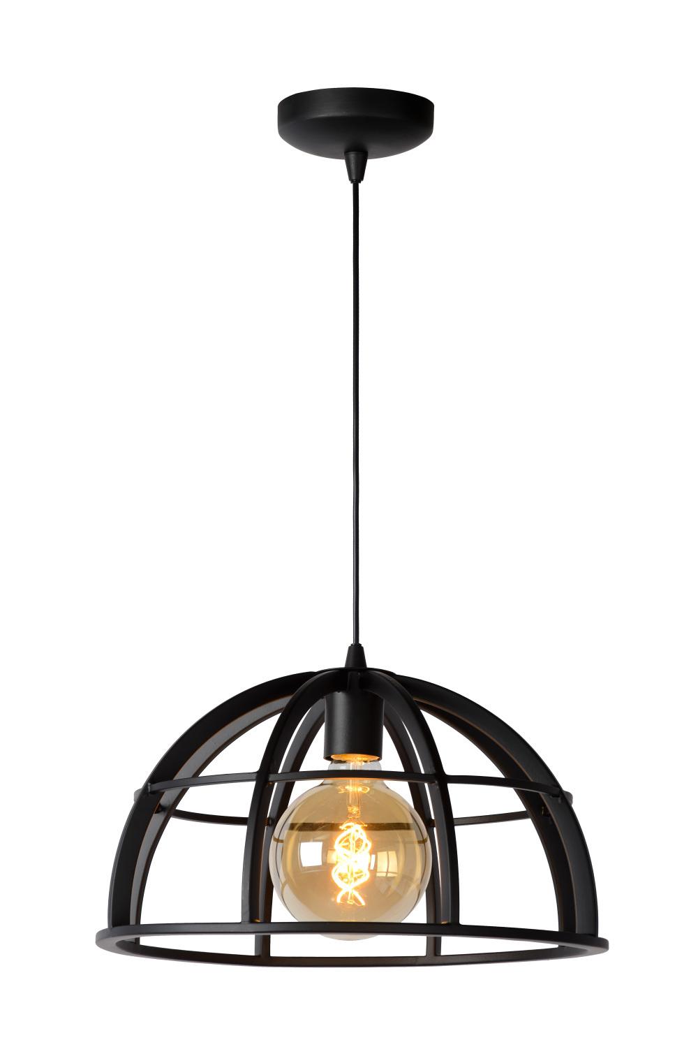 Lucide DIKRA Hanglamp E27 60W Ø40cm Zwart