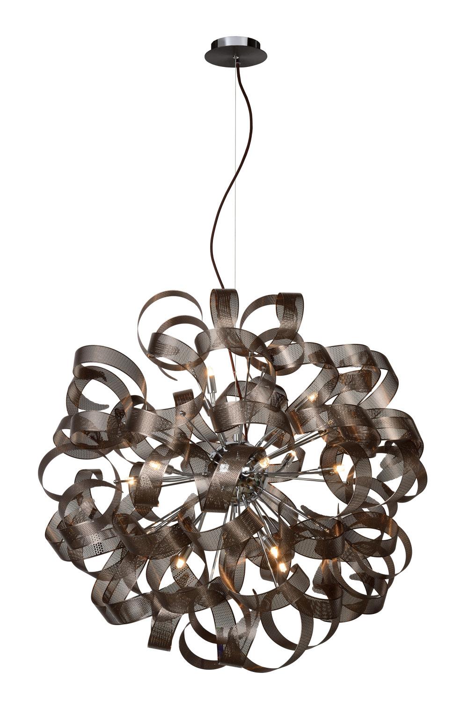 Lucide ATOMA Hanglamp-Bruin-Ø80-12xG9-40W-Metaal
