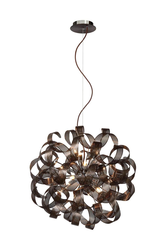 Lucide Atoma Hanglamp  60 cm - Bruin/Zwart