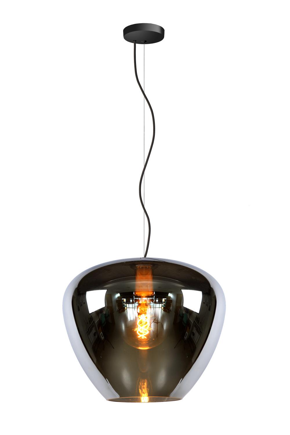 Lucide SOUFIAN Hanglamp-Fumé-Ø40-1xE27-60W-Glas