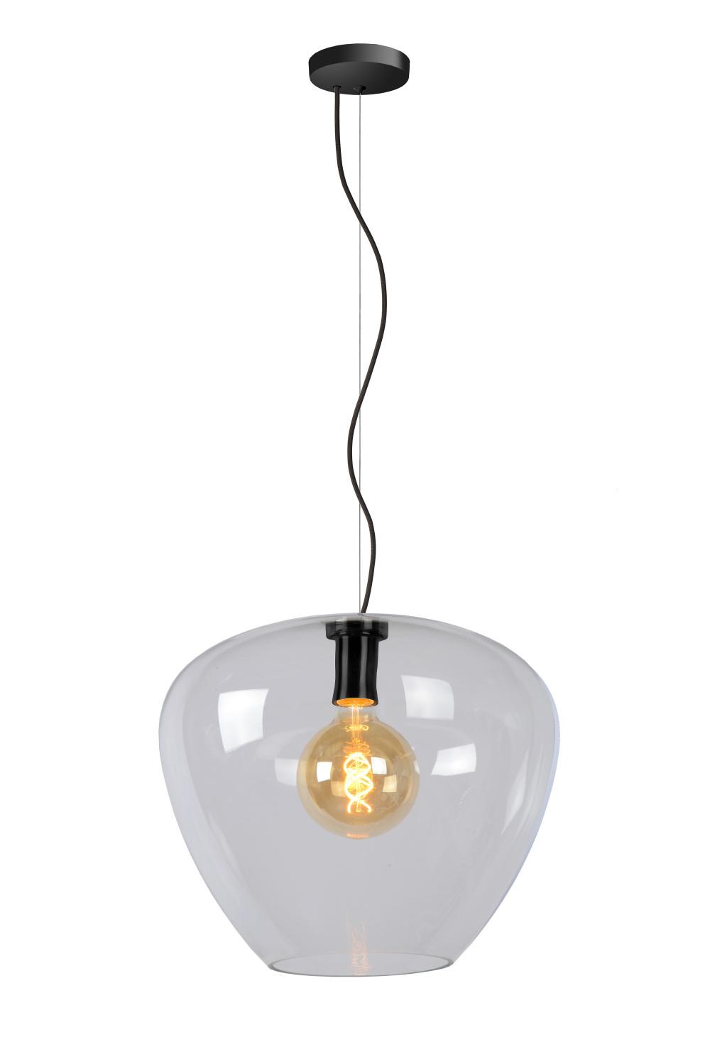 Lucide SOUFIAN Hanglamp-Transp.-Ø40-1xE27-60W-Glas