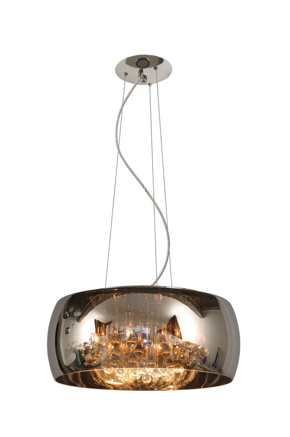 Lucide PEARL Hanglamp-Chroom-Ø50-6xG9-28W-Glas