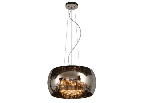 Lucide PEARL Hanglamp-Chroom-Ø40-5xG9-28W-Glas