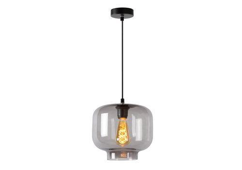 Lucide MEDINE Hanglamp 1x E27 40W Smoke Glas