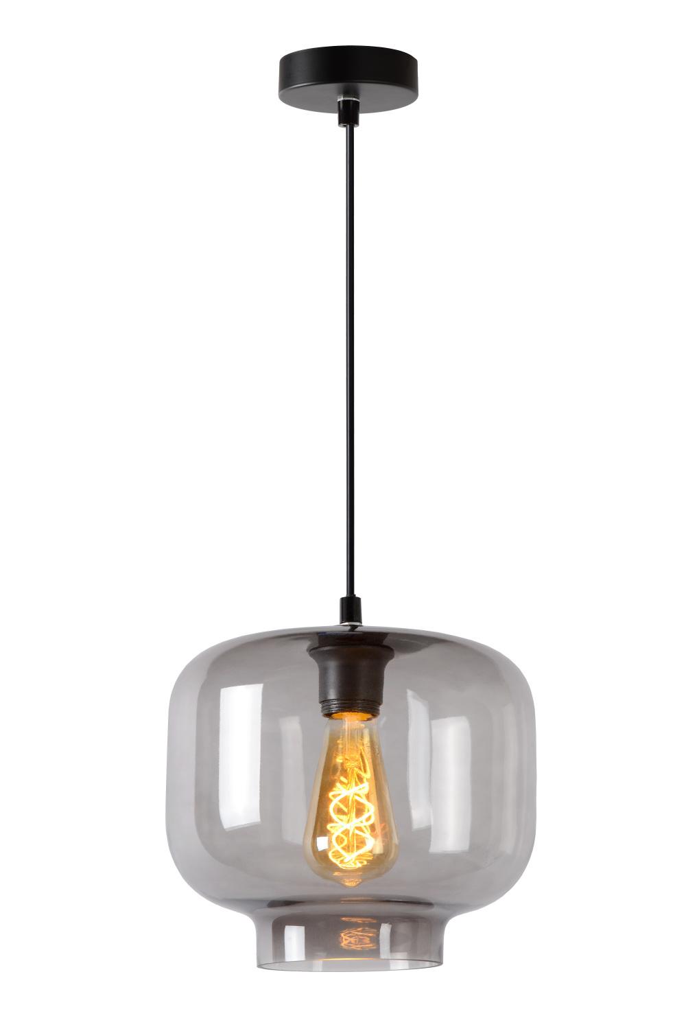 Lucide MEDINE Hanglamp-Fumé-Ø25-1xE27-40W-Glas