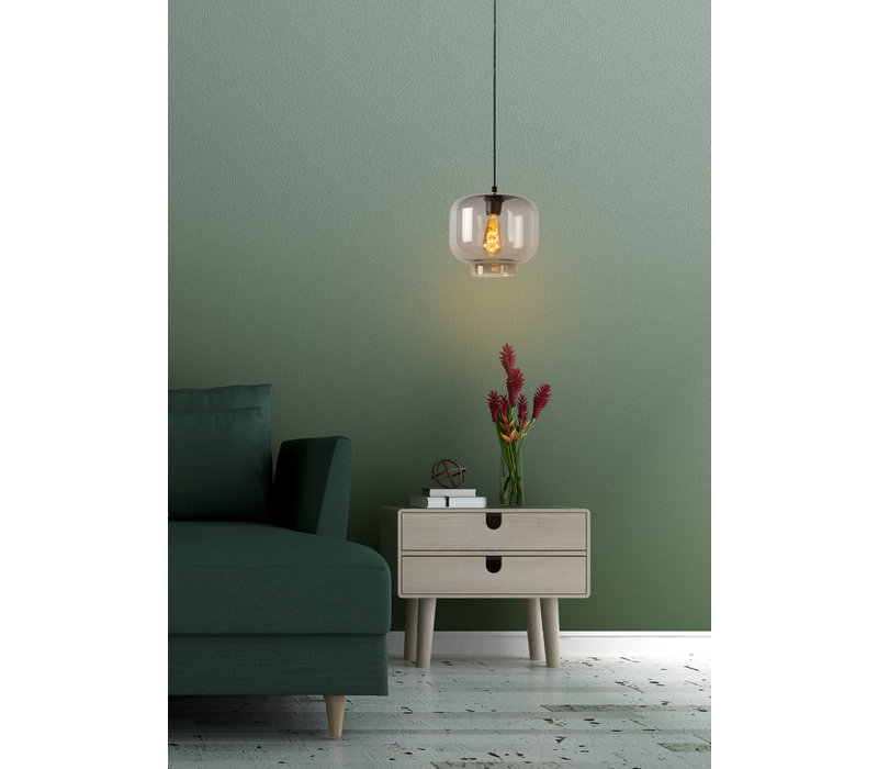 MEDINE Hanglamp 1x E27 40W Smoke Glas