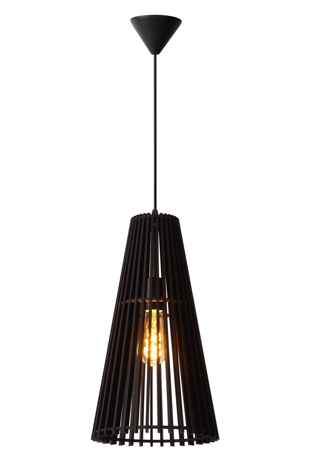 Lucide NORALIE Hanglamp 1x E27 Zwart