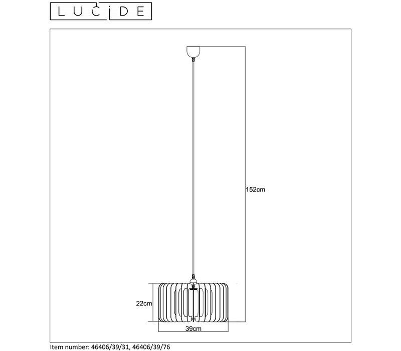 ETTA Pendel E27 Ø39cm H22cm Hout