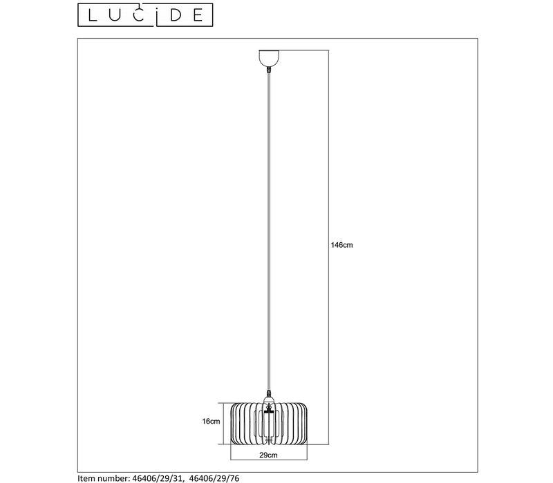 ETTA Pendel E27 Ø29cm H16cm Hout