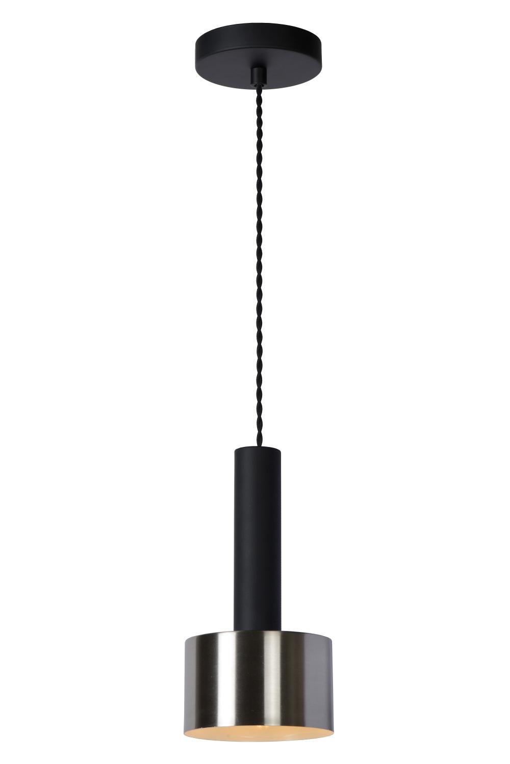 Lucide TEUN Hanglamp-Zwart-Ø13-1xE27-40W-Staal
