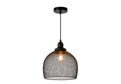 Lucide MESH Hanglamp-Zwart-Ø28-1xE27-60W-Metaal