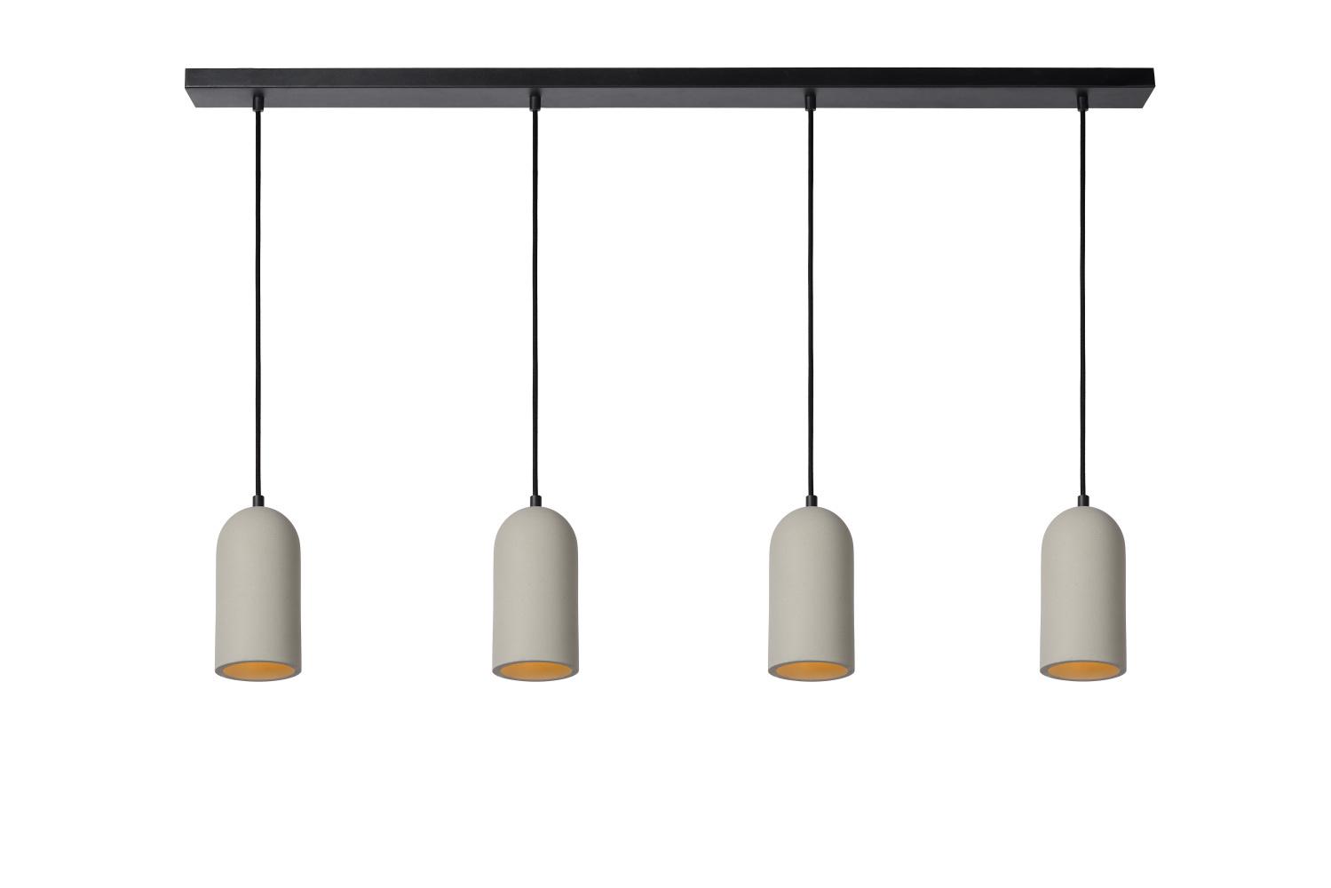 Lucide GIPSY Hanglamp 4x E27 Taupe Beton