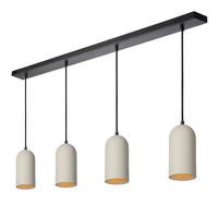 GIPSY Hanglamp 4x E27 Taupe Beton