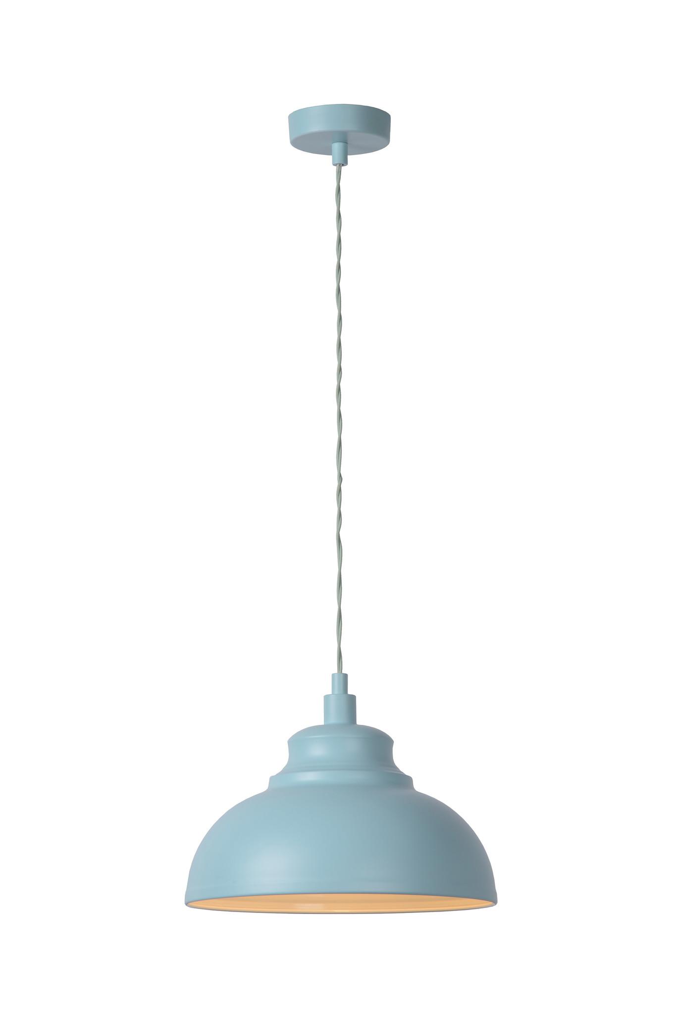 Lucide ISLA Pendel E14 D29 H22cm Pastel Blauw