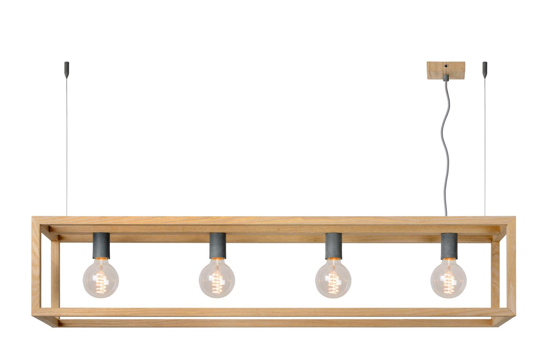 Lucide ORIS Hanglamp-Licht .-4xE27-60W-Metaal
