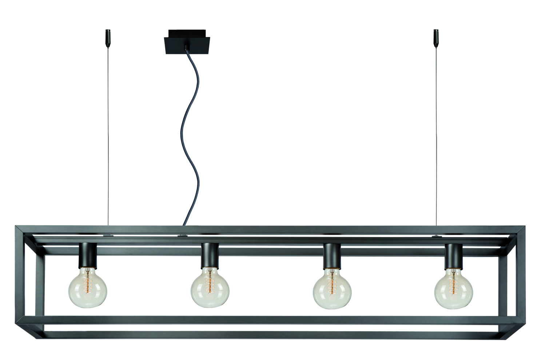 Lucide ORIS Hanglamp-Grijs .-4xE27-60W-Staal