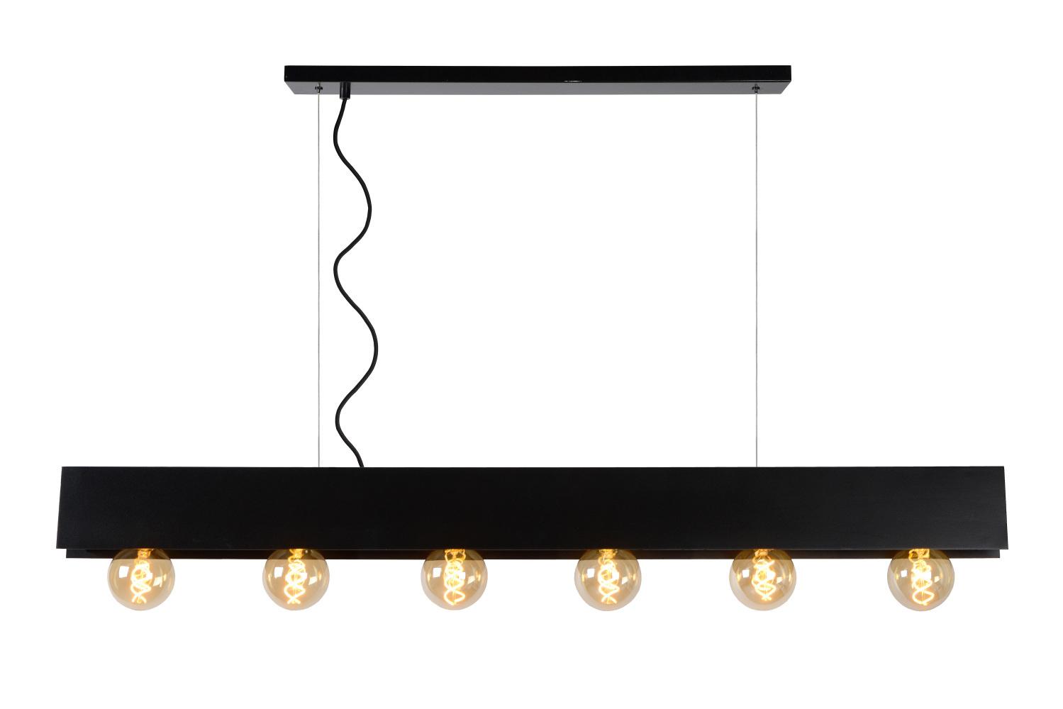 Lucide SURTUS Hanglamp 6xE27/60W Zwart