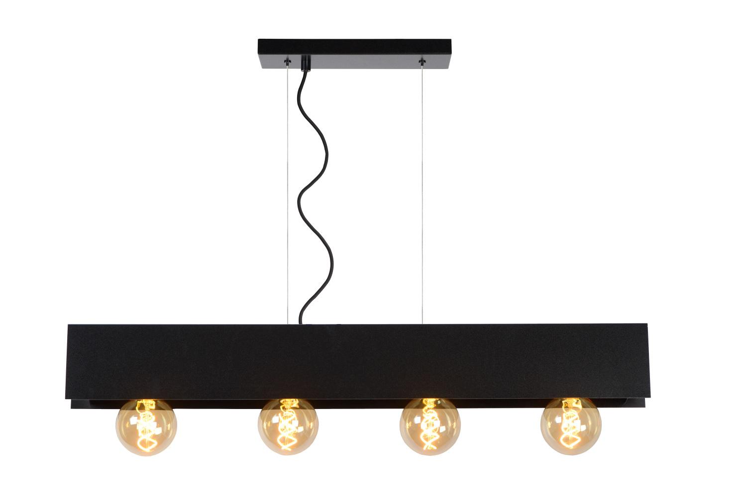 Lucide SURTUS Hanglamp 4xE27/60W Zwart