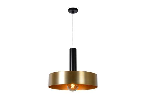 Lucide GIADA Hanglamp E27/60W Ø50cm  Mat Zwart/Mat Goud