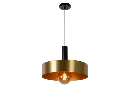 Lucide GIADA Hanglamp E27/60W Ø40cm  Mat Zwart/Mat Goud