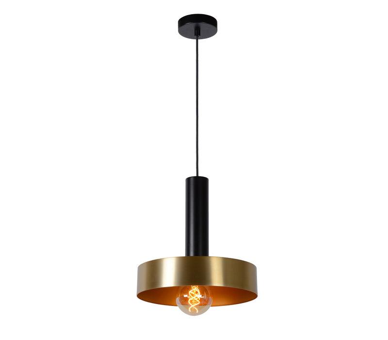 GIADA Hanglamp E27/60W Ø30cm Mat Zwart/Mat Goud