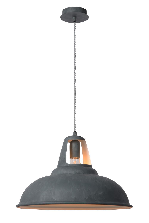 Lucide MARKIT Pendel E27 D45 H28cm Zink