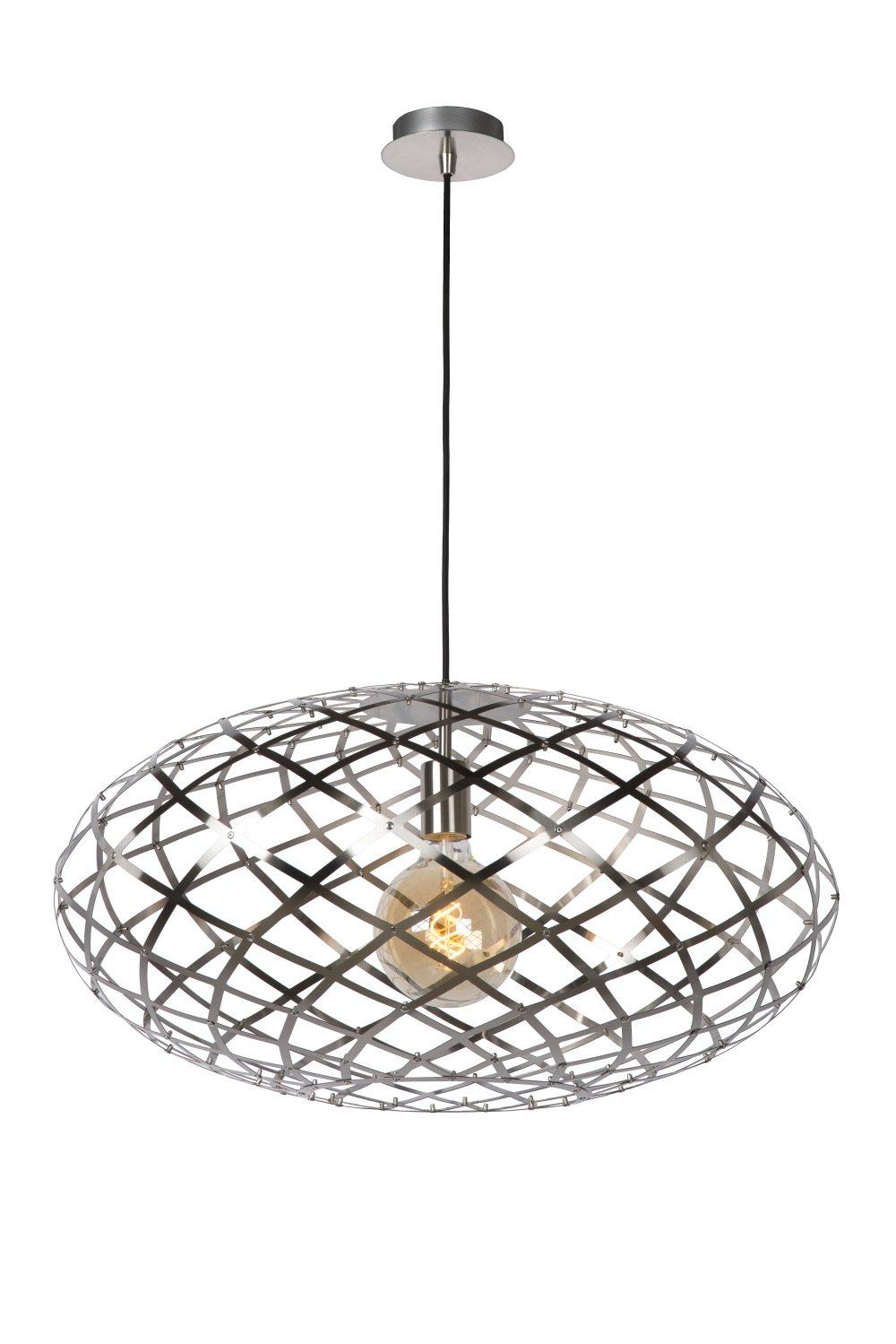 Lucide WOLFRAM Hanglamp-Mat ch.-Ø65-1xE27-60W-Metaal