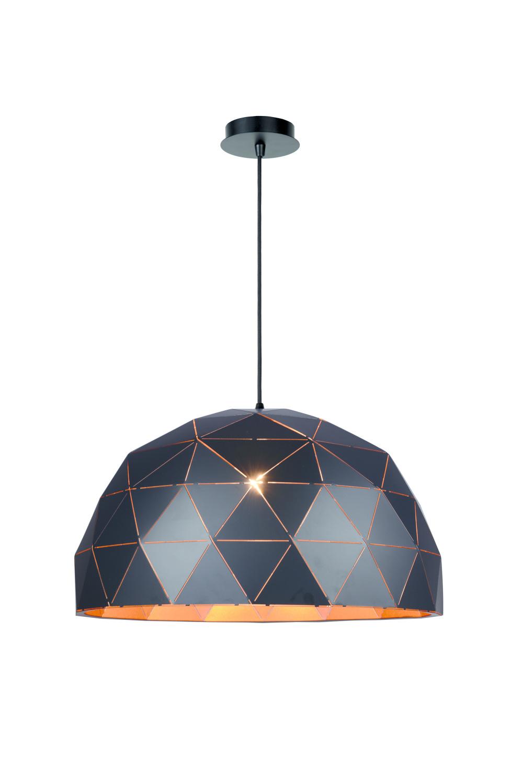 Lucide OTONA Hanglamp-Zwart-Ø60-3xE27-60W-Metaal