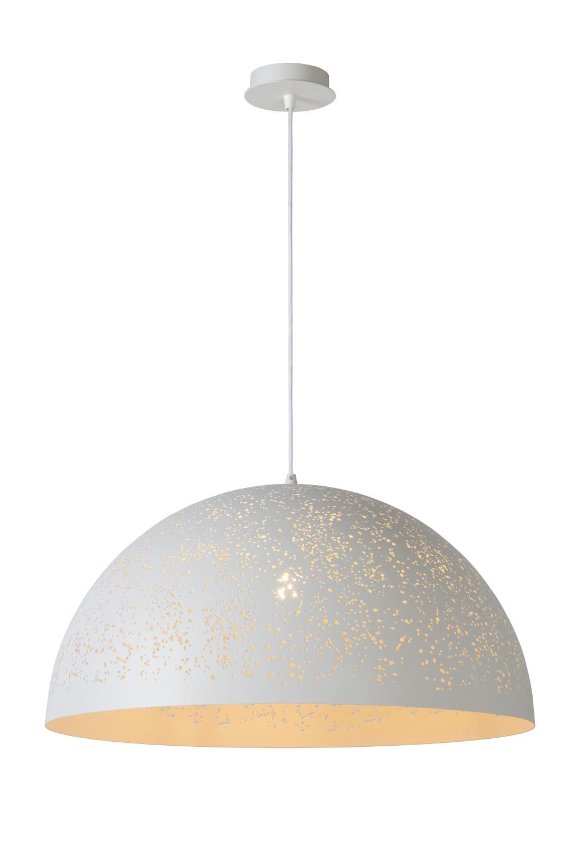Lucide ETERNAL Hanglamp-Wit-Ø60-1xE27-60W-Metaal