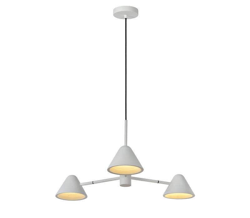 DEVON Hanglamp 3x3W LED Wit