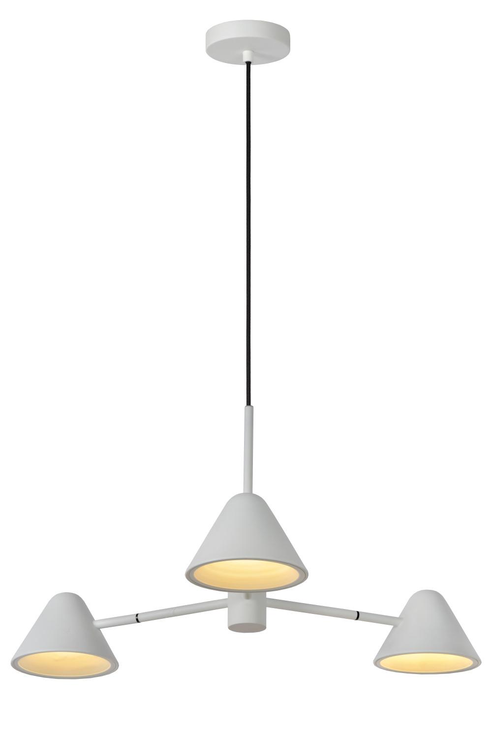 Lucide Devon Hanglamp 3x3w Led Wit