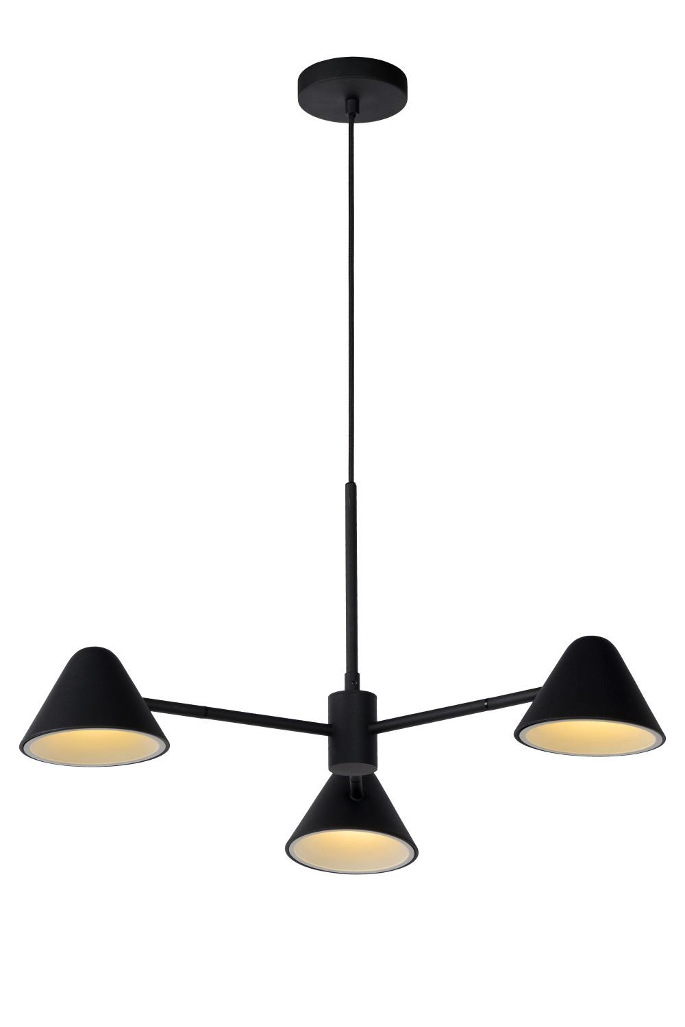 Lucide DEVON Hanglamp 3x3W LED Zwart
