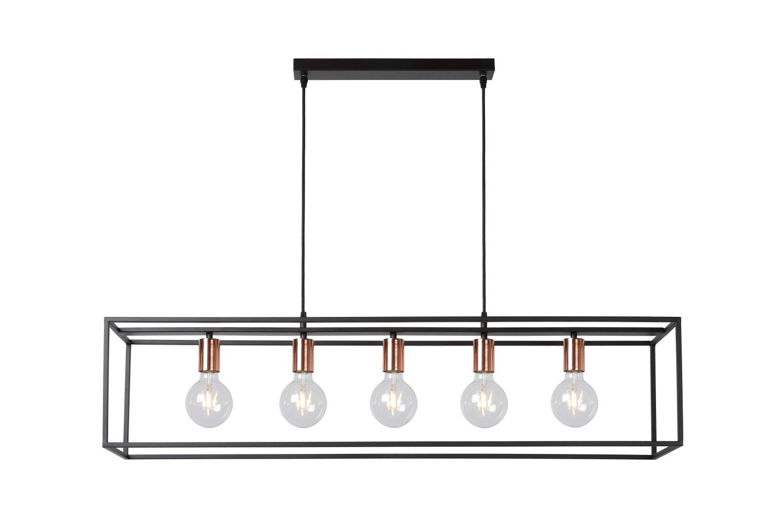 Lucide ARTHUR Hanglamp-Zwart-5xE27-60W-Metaal