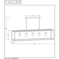 ARTHUR Pendel 5xE27 25/25/110cm Zwart