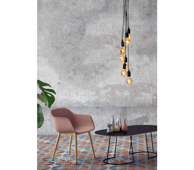 FIX MULTIPLE Hanglamp 7xE27 / 60W Zwart