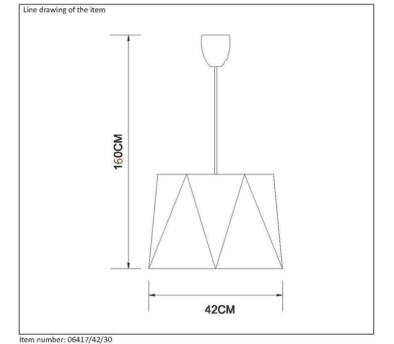 ALEGRO Pendel E27 Ø42cm H25cm Zwart