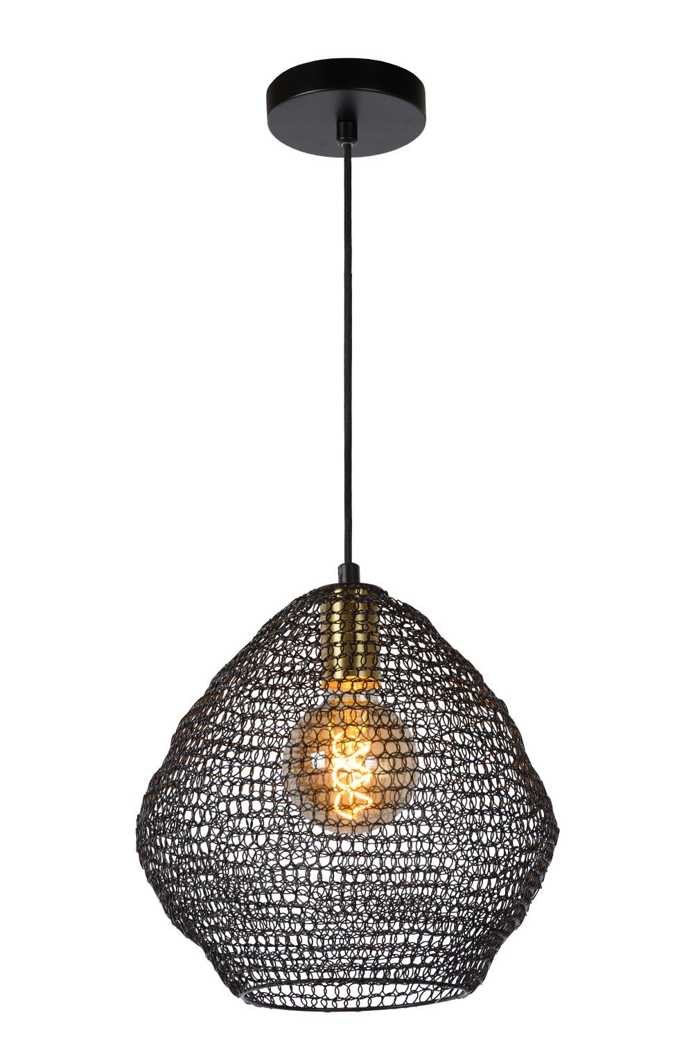 Lucide SAAR Hanglamp E27/60W Ø 28 cm Zwart