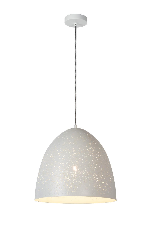 Lucide ETERNAL Hanglamp-Wit-Ø40-1xE27-60W-Metaal