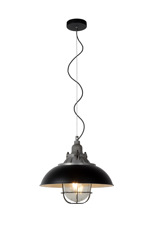 Lucide GRINGO Pendel E27 Ø40cm Zwart