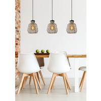 FIONA Hanglamp 3xE27/60W Grijs