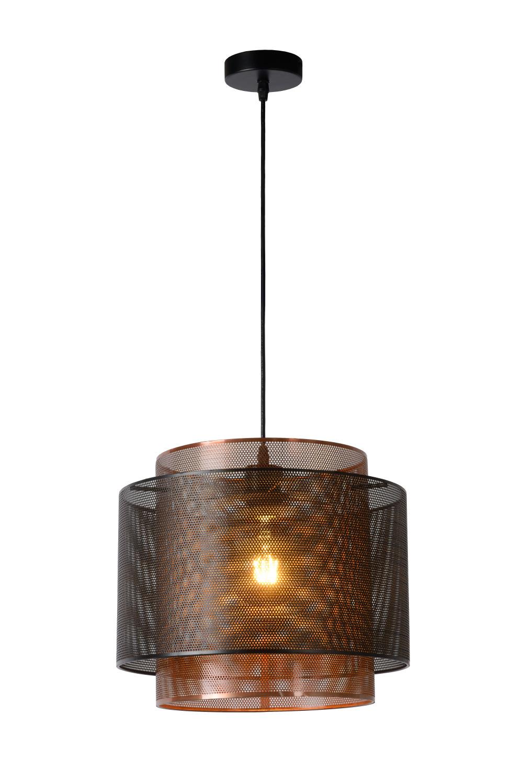 Lucide ORRIN Hanglamp-Zwart-Ø34-1xE27-60W-Metaal