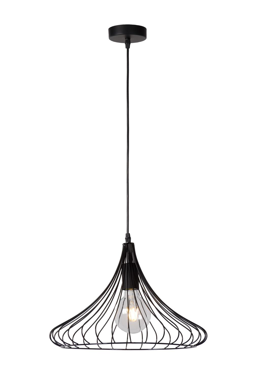 Lucide VINTI Pendel E27 D39.5 H26cm Zwart