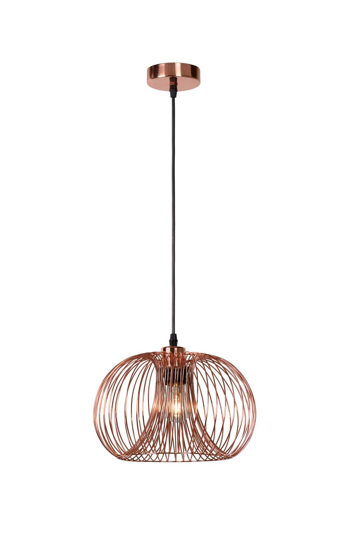 Lucide VINTI Hanglamp-Koper-Ø30-1xE27-60W-Metaal