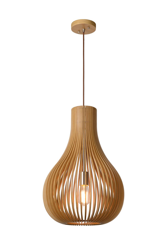 Lucide BODO Hanglamp-Licht .-Ø38-1xE27-60W-Hout