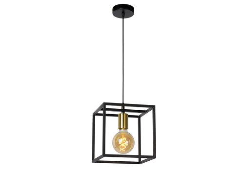 Lucide RUBEN Hanglamp 1x E27 40W Zwart / mat goud