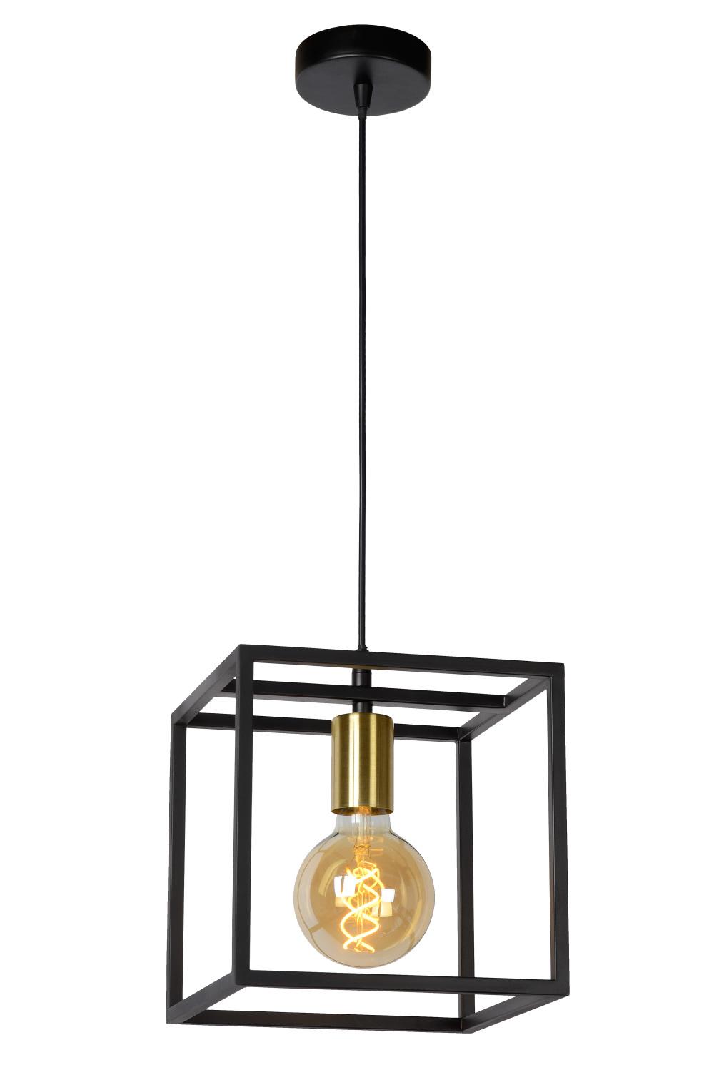 Lucide RUBEN Hanglamp-Zwart-1xE27-40W-Metaal