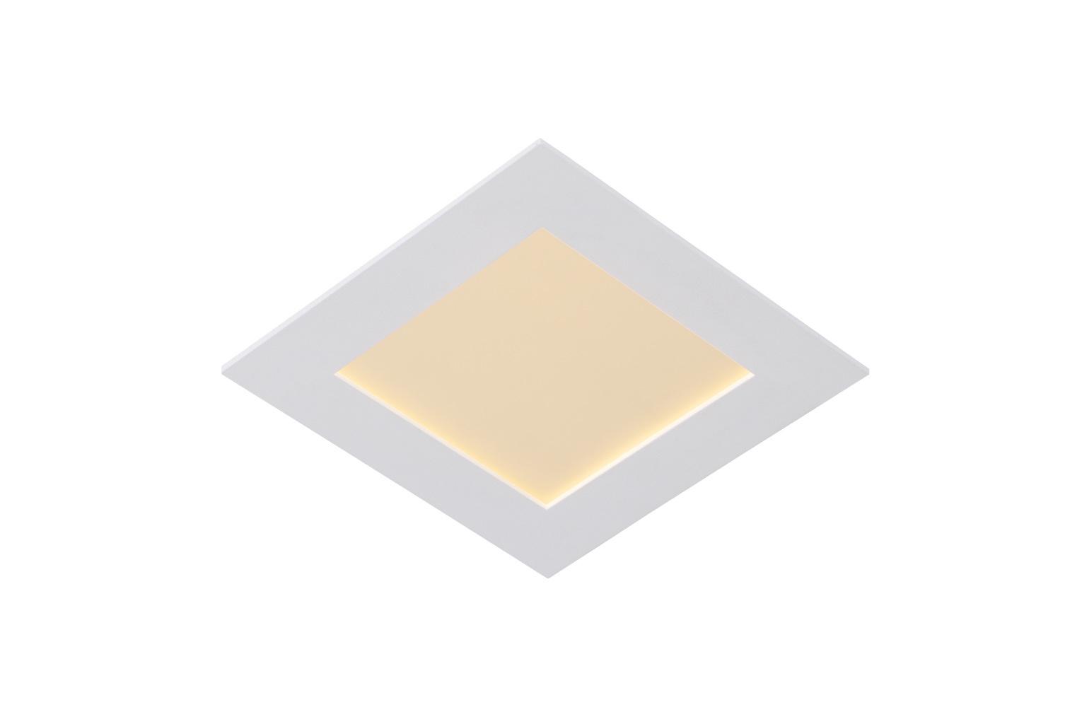 Lucide BRICE-LED Inbouw Dimbaar 15W Vierkant D17 IP40