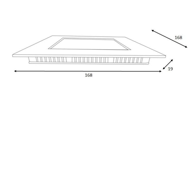 BRICE-LED Inbouw Dimbaar 15W Vierkant D17 IP40