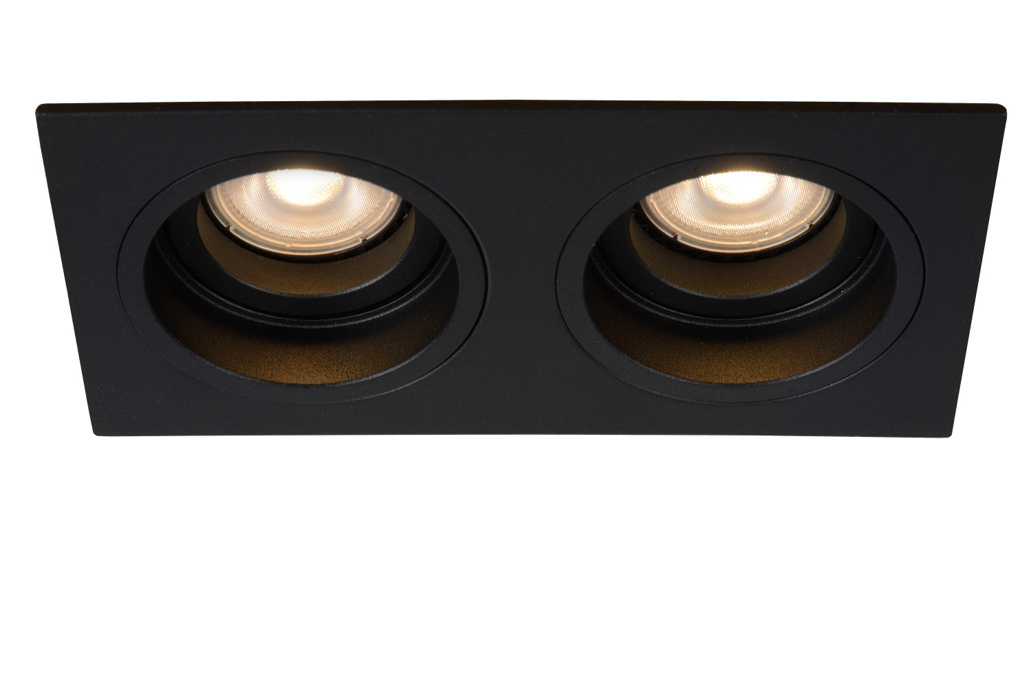 Lucide EMBED Inbouwspot GU10 2x50W Zwart