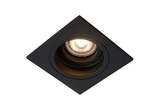 Lucide EMBED Inbouwspot GU10 Vierkant Ø9cm Zwart